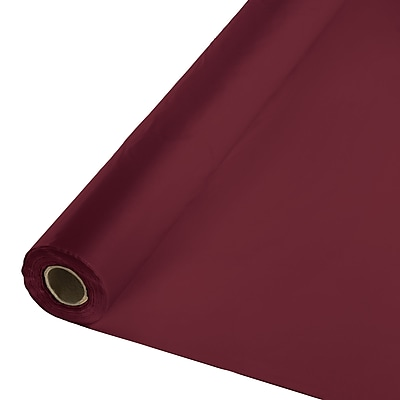 Touch of Color Burgundy Red Plastic Banquet Roll (763122)