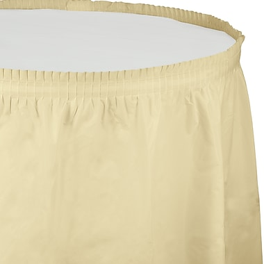 Touch of Color Ivory Plastic Tableskirt (010032)