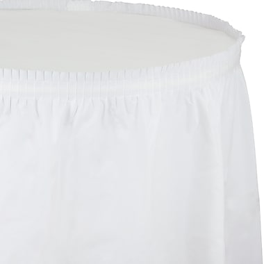Touch of Color White Plastic Tableskirt (010047C)