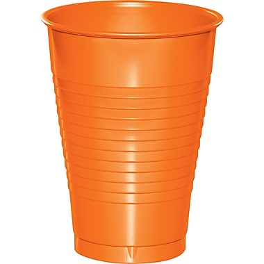 Touch of Color Sunkissed Orange 12 oz Plastic Cups, 20 pk (28191071)