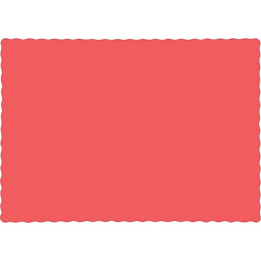 Touch of Color Coral Placemats, 50 pk (863146B)