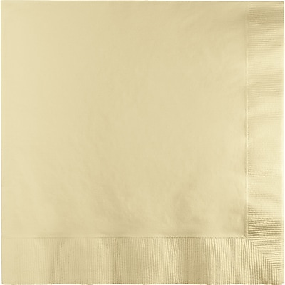 Touch of Color Ivory Napkins, 50 pk
