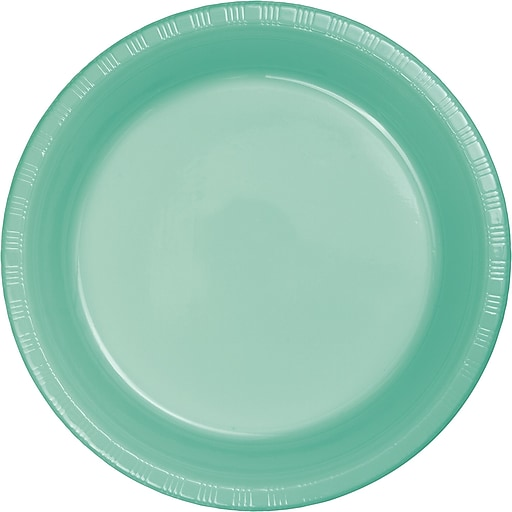 Touch of Color Fresh Mint Green Plastic Dessert Plates, 20 Pack (318877)