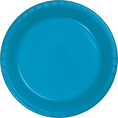 Touch of Color Turquoise Blue Plastic Dessert Plates, 20 pk (28313111)