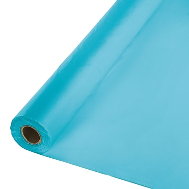 Touch of Color Bermuda Blue Plastic Banquet Roll (011193)