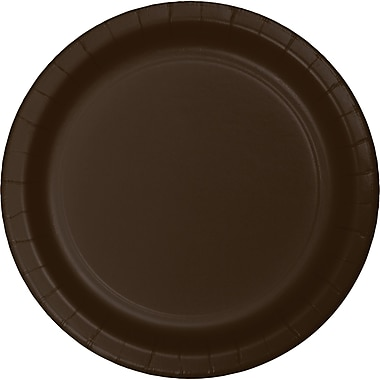 Touch of Color Chocolate Brown Paper Plates, 24 pk (473038B)