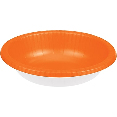Touch of Color Sunkissed Orange Paper Bowls, 20 pk (173282)