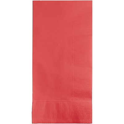 Touch of Color Coral Napkins, 8.5 x 4, 50 pk