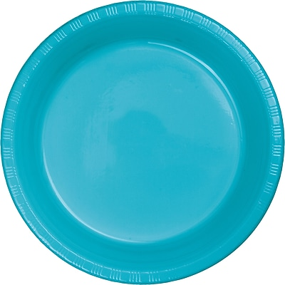 Touch of Color Bermuda Blue Plastic Plates, 20 pk (28103921)