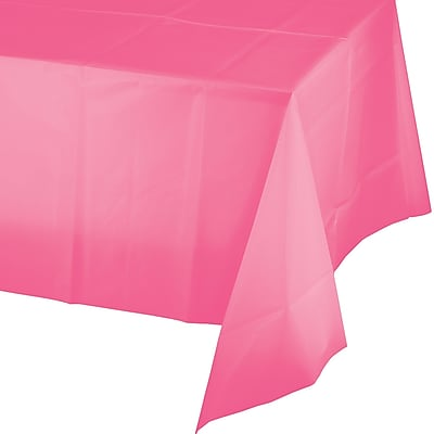 Touch of Color Candy Pink Plastic Tablecloth (011342)