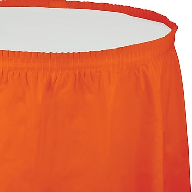 Touch of Color Sunkissed Orange Plastic Tableskirt (010044)