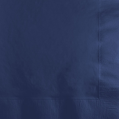 Touch of Color Navy Blue Beverage Napkins, 50 pk