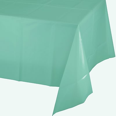 Touch of Color Fresh Mint Green Plastic Tablecloth (318900)