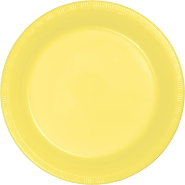 Touch of Color Mimosa Yellow Plastic Dessert Plates, 20 pk (28102011)