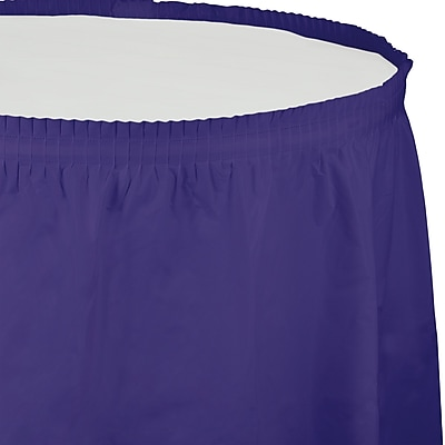 Touch of Color Purple Plastic Tableskirt (010039)