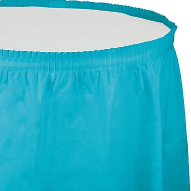 Touch of Color Bermuda Blue Plastic Tableskirt (010539)