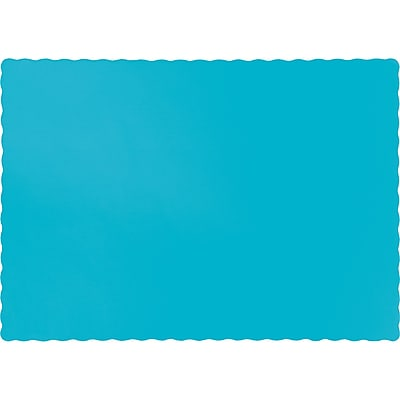 Touch of Color Bermuda Blue Placemats, 50 pk (863552B)
