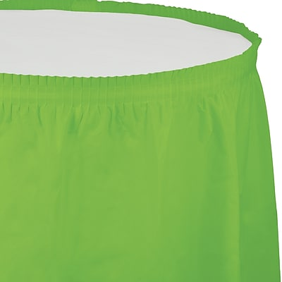 Touch of Color Fresh Lime Green Plastic Tableskirt (743123)
