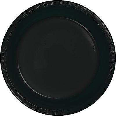 Touch of Color Black Plastic Plates, 20 pk (28134021)