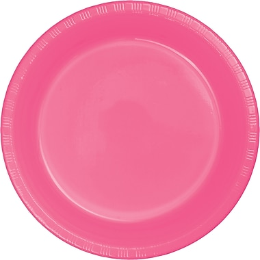 Touch of Color Candy Pink Plastic Plates, 20 pk (28304221)