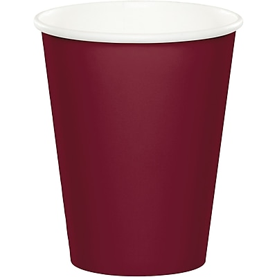 Touch of Color Burgundy Red Cups, 24 pk (563122B)