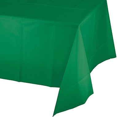 Touch of Color Emerald Green Plastic Tablecloth (01191)