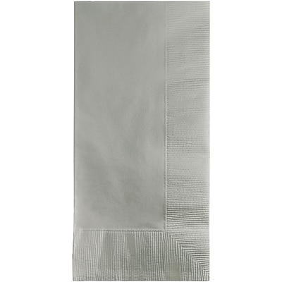 Touch of Color Shimmering Silver Napkins, 100 pk