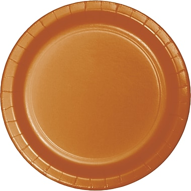 Touch of Color Pumpkin Spice Orange Paper Plates, 24 pk (323386)