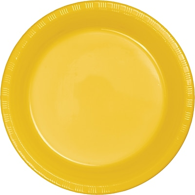 Touch of Color School Bus Yellow Plastic Plates, 20 pk (28102121)