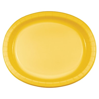 Touch of Color School Bus Yellow Oval Plates, 8 pk (433269)