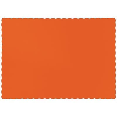 Touch of Color Sunkissed Orange Placemats, 50 pk (863282B)