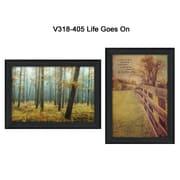 "TrendyDecor4U Life Goes On-2-18""x12"" Framed Print (V318-405)"