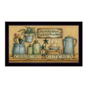 "TrendyDecor4U Country Kitchen -18""x9"" Framed Print (MARY474-712)"