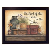 """TrendyDecor4U Heart of the Home-16""""x12"""" Framed Print (MARY333-712)"""