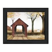 "TrendyDecor4U Buck's Country Bridge -24""x18"" Framed Print (BJ1009-405)"