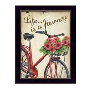 "TrendyDecor4U Life is a Journey -12""x16"" Framed Print (DEW425-712)"