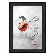 """TrendyDecor4U Life is What you Make it -12""""x18"""" Framed Print (RLV414-405)"""