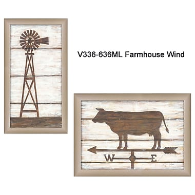 TrendyDecor4U Farmhouse Wind-1-18x12 Framed Print (V336-636ML)