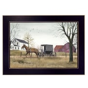 "TrendyDecor4U ""Goin' to Market"" 20""x14"" Black Framed Art Print by Billy Jacobs (BJ405-712)"