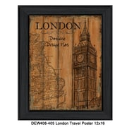 "TrendyDecor4U London Travel Poster -12""x16"" Framed Print (DEW408-405)"