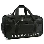 Perry Ellis Medium Weekender Travel Duffel Bag with Shoe Pocket (PE-SD-A222-BK)