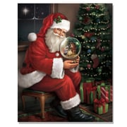"TrendyDecor4U Lighted Canvas Santa's Favorite Gift: A Nativity Snow Globe -16""x20"" Framed Print (64273-C)"