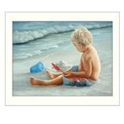 "TrendyDecor4U In the Sand -16""x12"" Framed Print (JAN125-712W)"