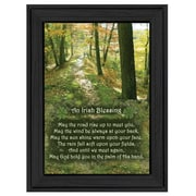 "TrendyDecor4U Irish Blessing -8.5""x12.25"" Framed Print (ME34-405)"