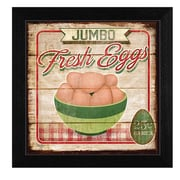 "TrendyDecor4U Jumbo Fresh Eggs -12""x12"" Framed Print (MOL921-276)"