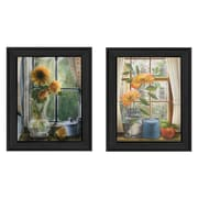 "TrendyDecor4U Flowers -2-12""x16"" Framed Print (V170-405)"