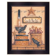 "TrendyDecor4U Give Us This Day -12""x16"" Framed Print (MARY437-712)"