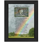 "TrendyDecor4U ""Rainbow Bridge"" (Pet Print) -12""x16"" Framed Print (ME02C-405)"