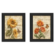 "TrendyDecor4U Flowers 2 -2 - 12""x16"" Framed Print (V178-405)"