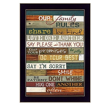 TrendyDecor4U Our Family Rules -8.5